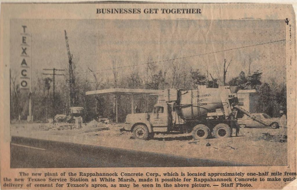 1973 new plant for Rappahannock Concrete